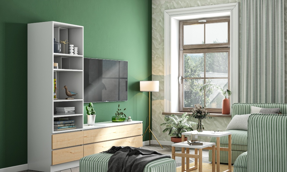 colour combination for living room which has been painted an almost emerald shade of green it as your living room paint colour