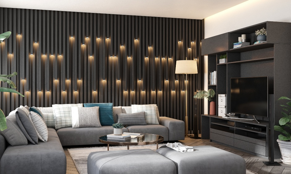 Colour combination for living room paint colors with black color and grey to make bold statement in room colour combination
