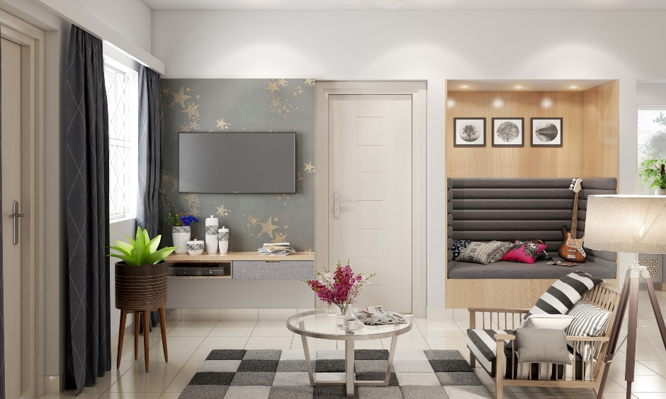 Color combination for living room in grey and black with addition of silver these are best wall colour combination for small living room