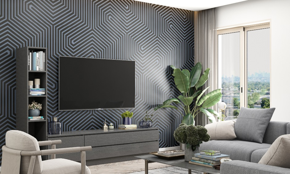 Best colour combination for living room with grey soft furnishings combined and prussian blue color wall for living room