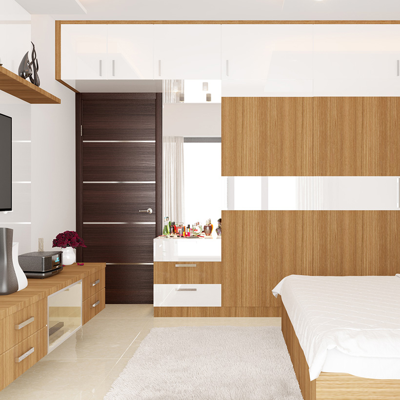 In bedroom, dressing room interior designs