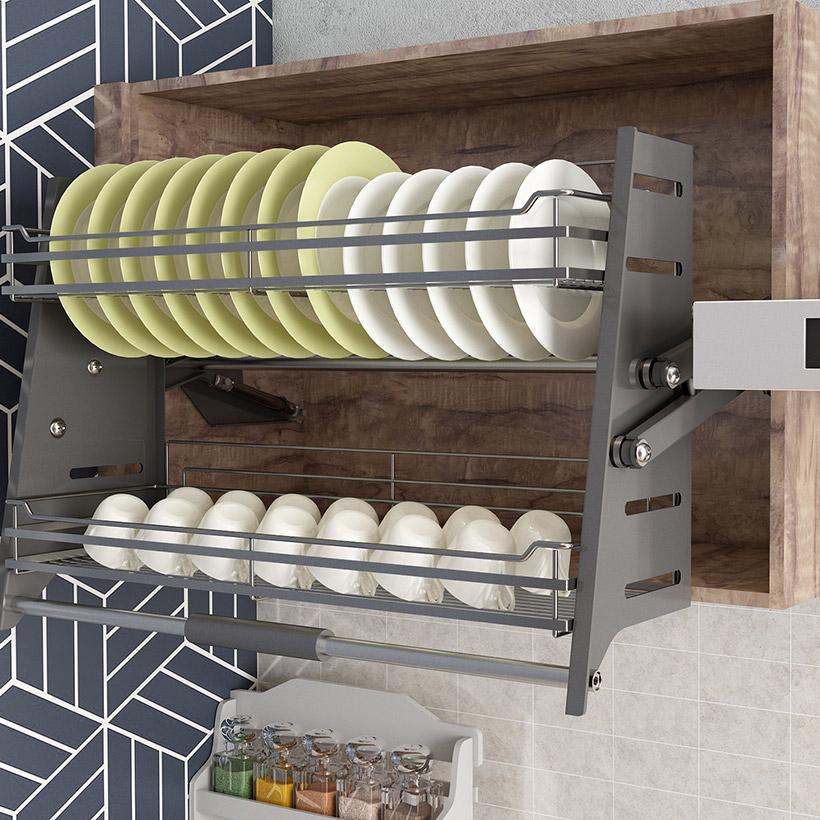 Add a wash-up station in kitchen is the best space saving idea and its kitchen furniture designs for small kitchen