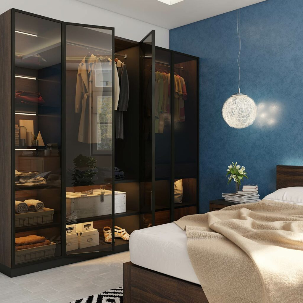 indian bedroom designs wardrobe photos with a blue coloured wall and sliding door wardrobe designs for bedroom indian