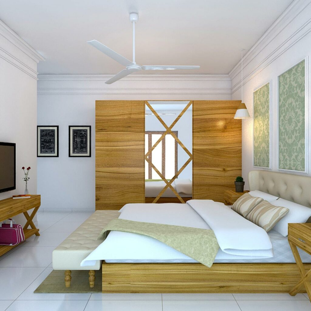 Trending sliding door wardrobe design for your bedroom is one that gives a nod to nature