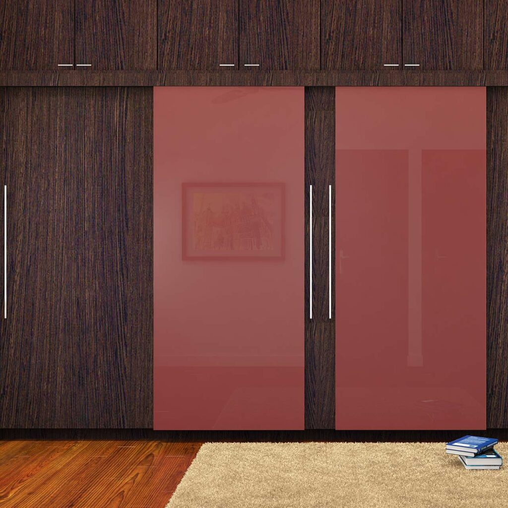 Modern wardrobe sliding doors with wall of wardrobes has sliding doors that stretches across the room