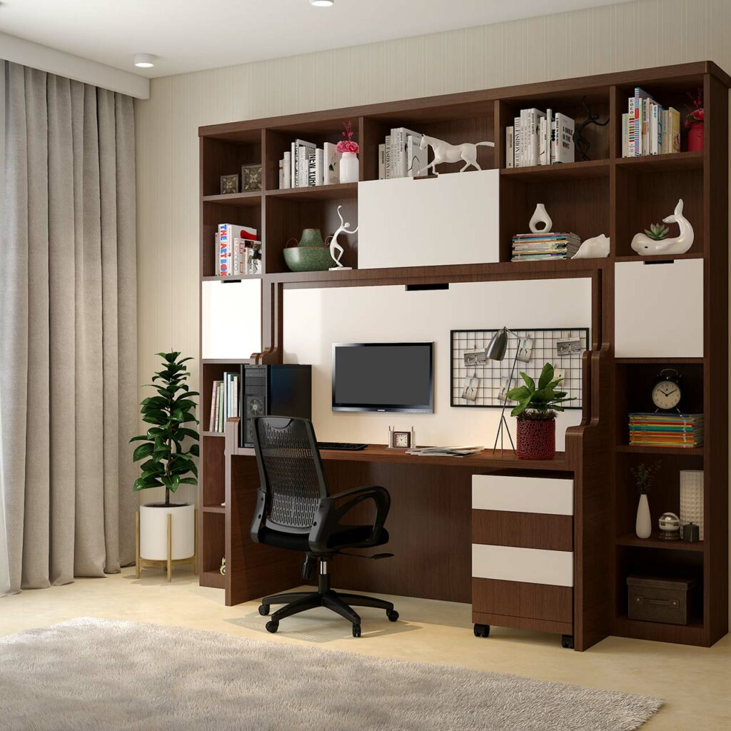 A multipurpose Murphy bed that can be folded into a study table, is a multifunctional bed at best price in India
