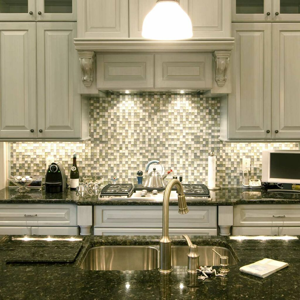 Glass Countertops Is Another Type Of Kitchen Countertops And It Gives Sleek Look.