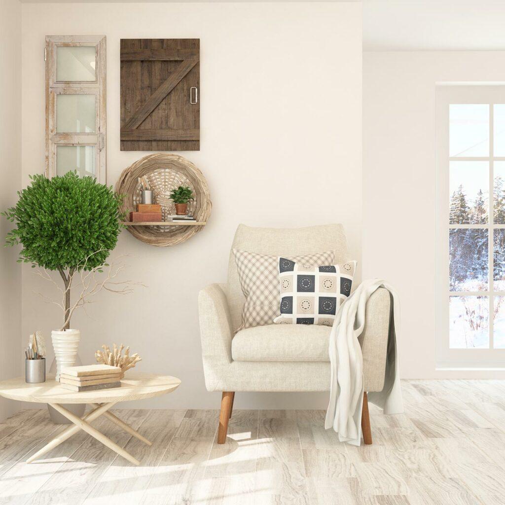 Minimalist interior design for a low budget home