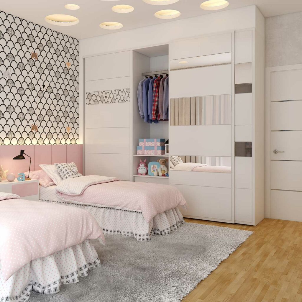 false ceiling design for bedroom with dreamy look can be mirrored with dimmable lights and floating bedroom ceilings
