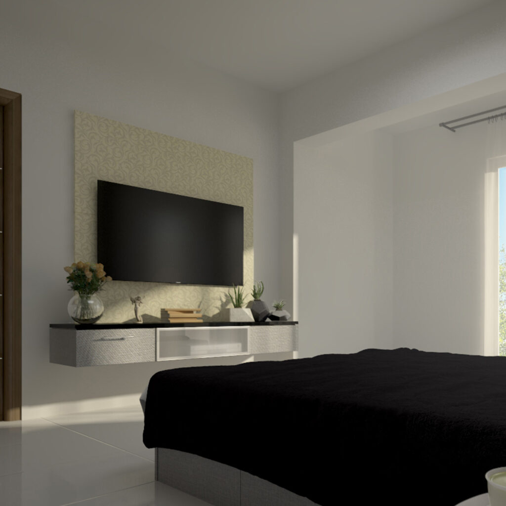 Bedroom tv unit designs for your home with a simple tv stand design and tv panel design