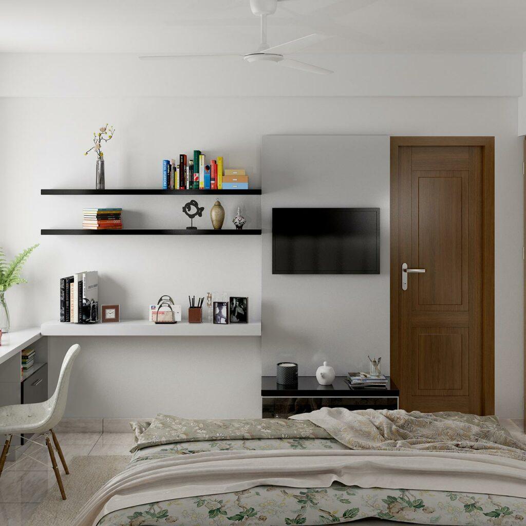 Bedroom TV Unit Designs - Cabinets and Panels  Design Cafe