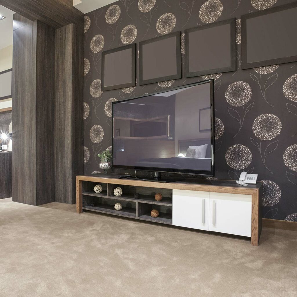 Wooden Tv Unit Design For Living Room, TV Units Made With Wood Colour