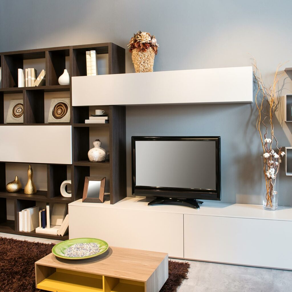 Tv Unit Design For Small Living Rooms, We Can Use For Running Tv Unit Combined With Open Racks