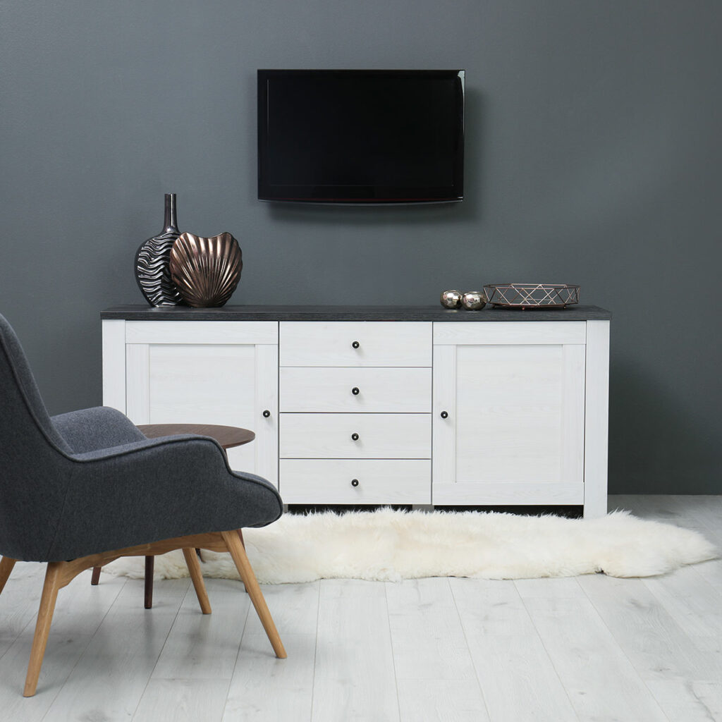 Sleek Tv Unit Design For Living Room, Its Works Wonders When Space Is A Constraint