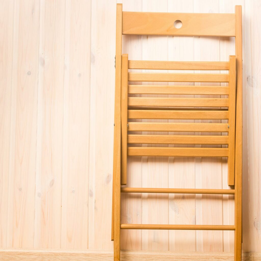 Compact Wooden Folding Chair For Small Spaces