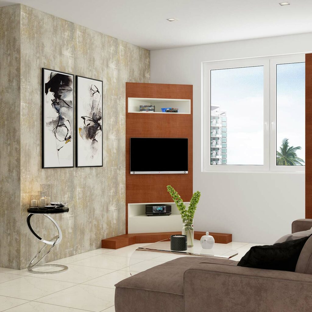 Corner TV Cabinet Designs for Living Room