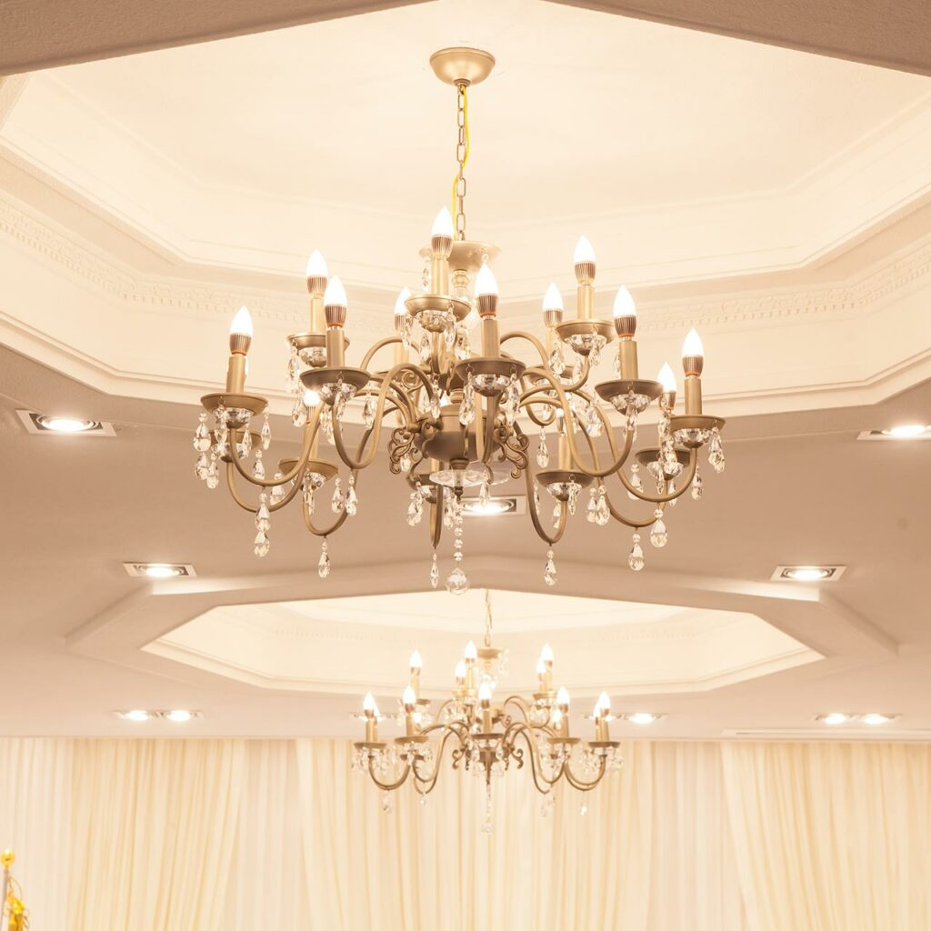 Crystal Chandelier Light Design for Living Room False Ceiling