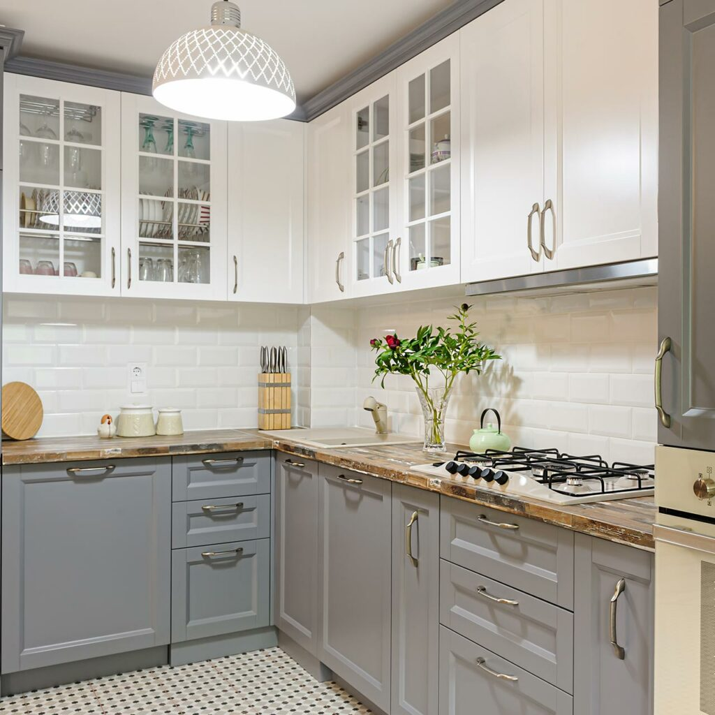Kitchen colour combination with grey colour kitchen sunmica colour combination