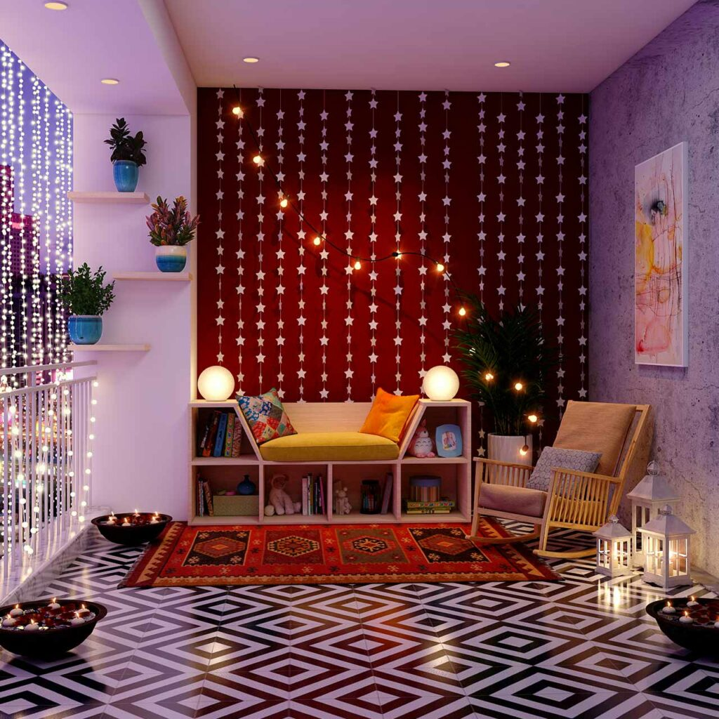 Diwali Decoration Ideas for Living Room.