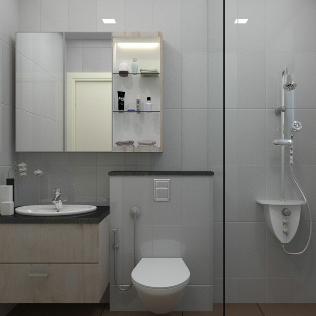 Bathroom organization idea to declutter for best results to sort all items in a category