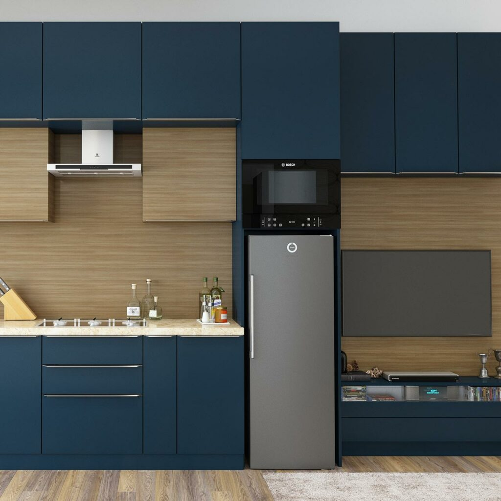 Small house mini kitchen design with a smart layout makes everything accessible