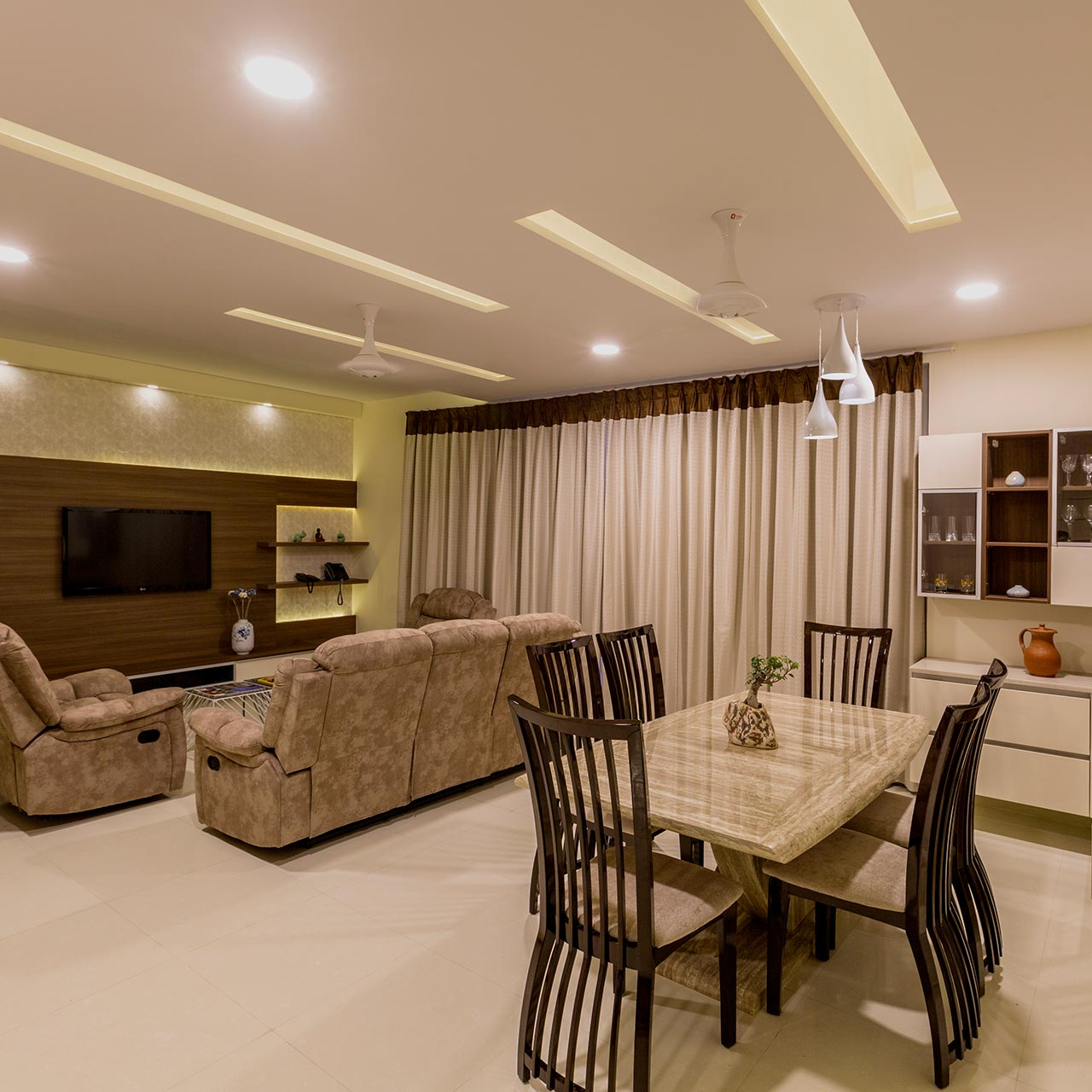 Craft clever interior with lighting of luxury house interior with Wall scones and subtle lighting