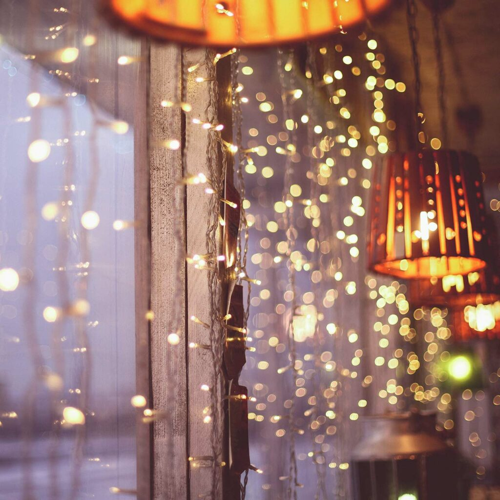Bedroom lighting ideas with fairy lights and dimmers for sparkle and shine in bedroom lighting
