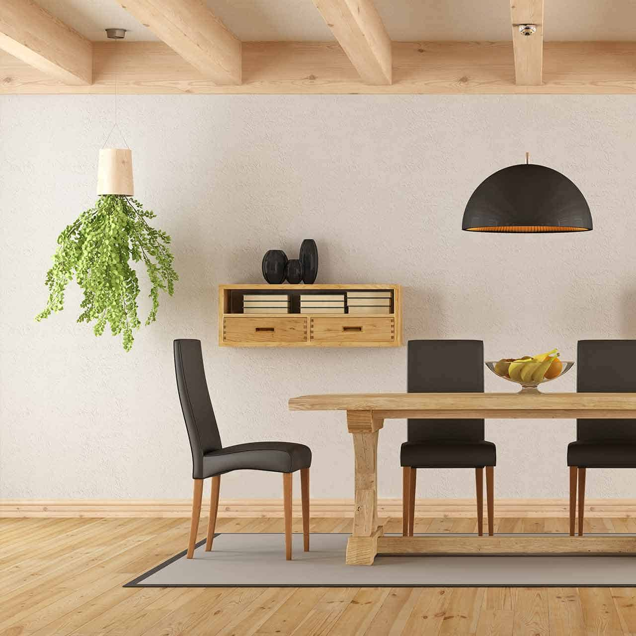 Rustic style dining room to give your dining room a rustic look, the tableware you choose is crucial for dining room style