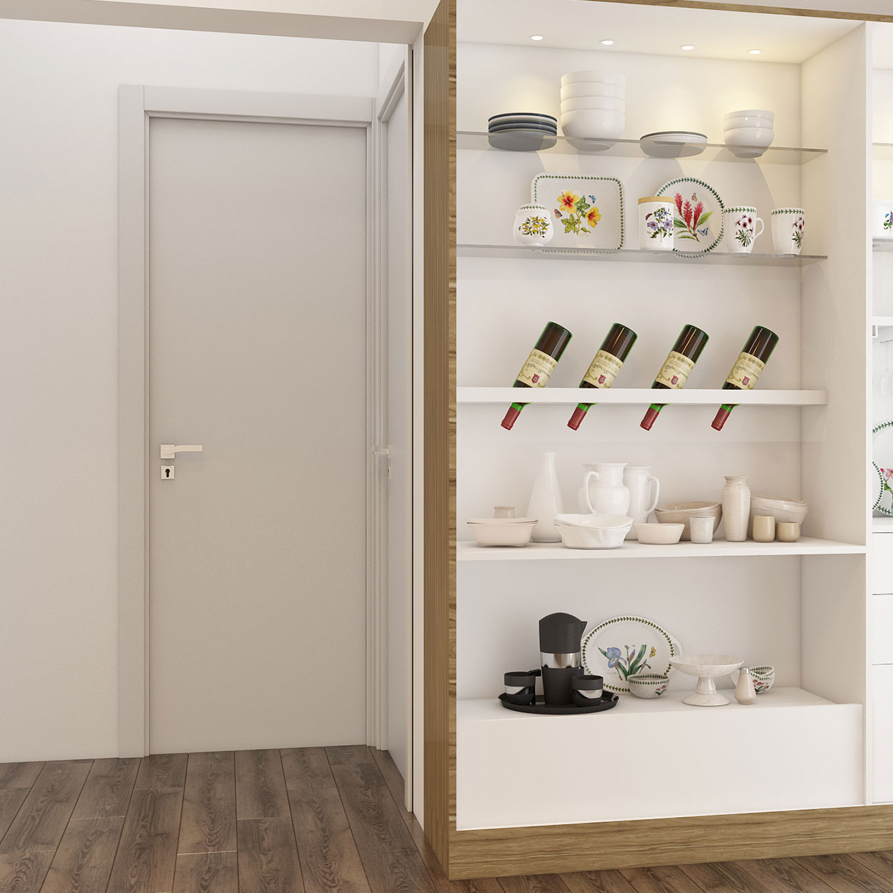 Open Shelves and Cabinets