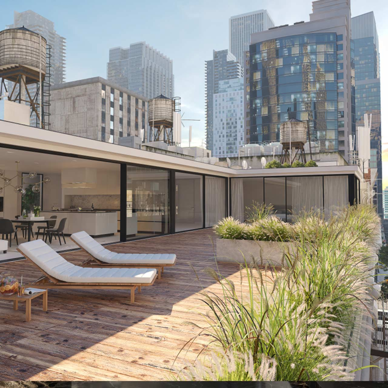 Penthouse design of private outdoor spaces for penthouse