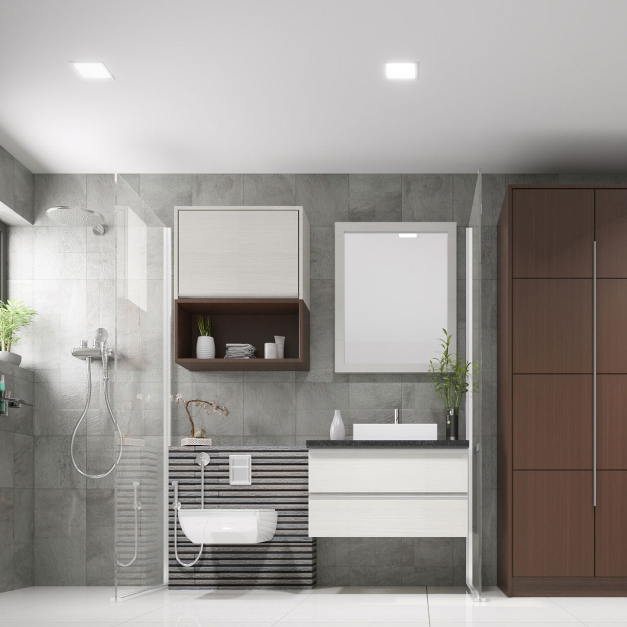 Large Bathrooms in Villa House