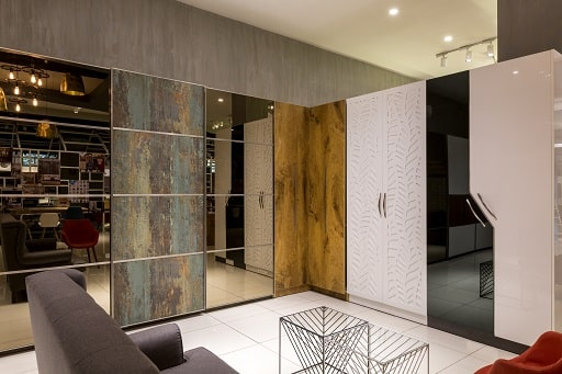 Best Openable Modular Wardrobe Designs are available at Design Cafe Bangalore Experience Centre / Design Studio Store.