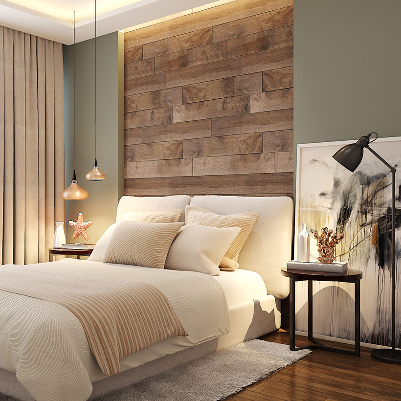 Bedroom wall decor ideas with woods into your home with gorgeous nature inspired room wall decor