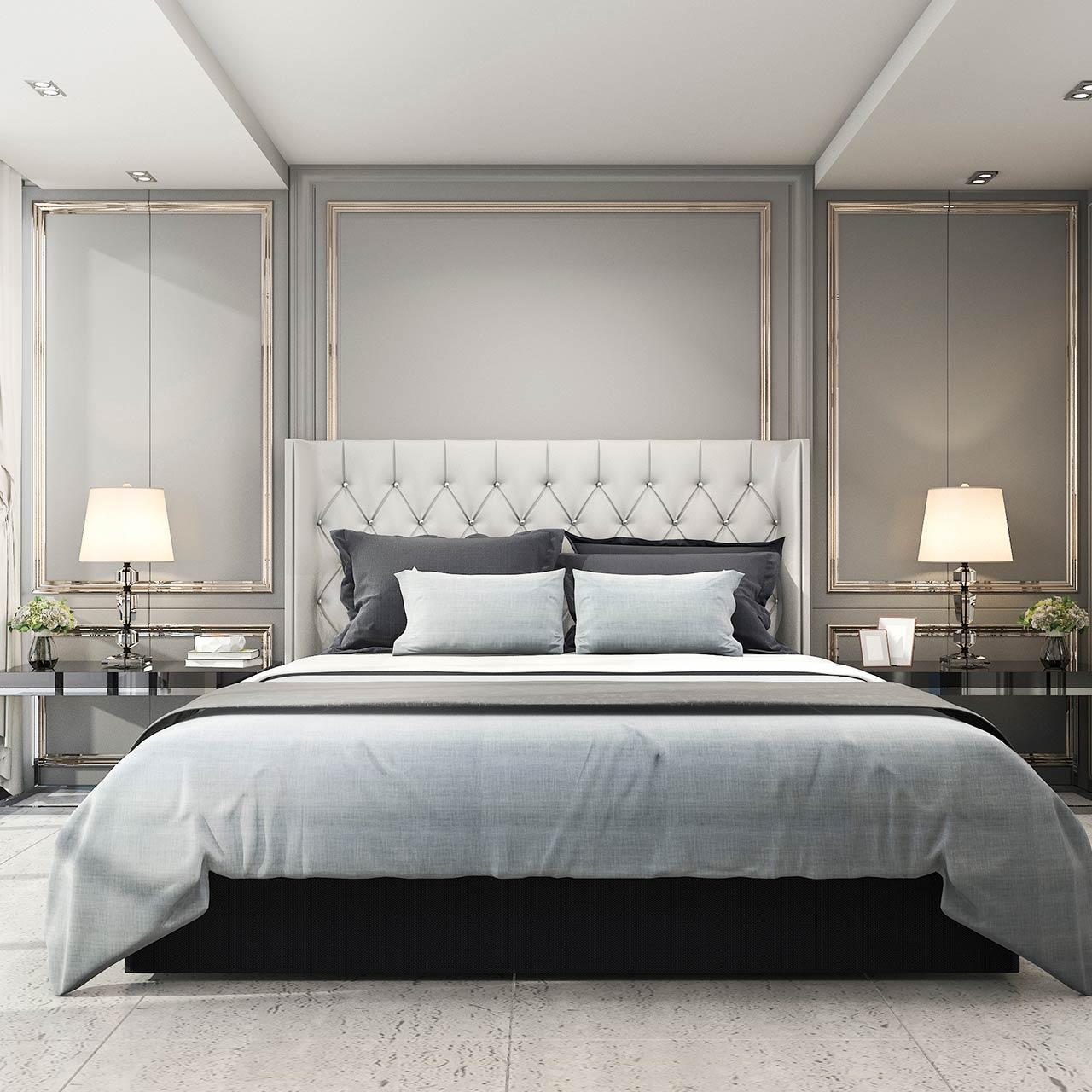 New Lamp Piece of Art Scanadivian Style Bedroom Design