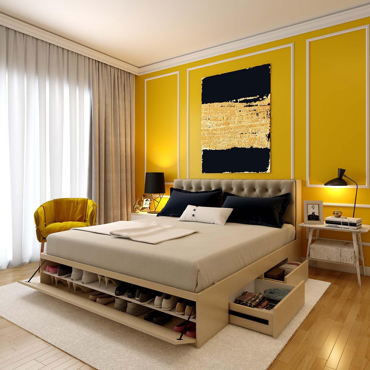 Build Storage into Design for Master Bedroom