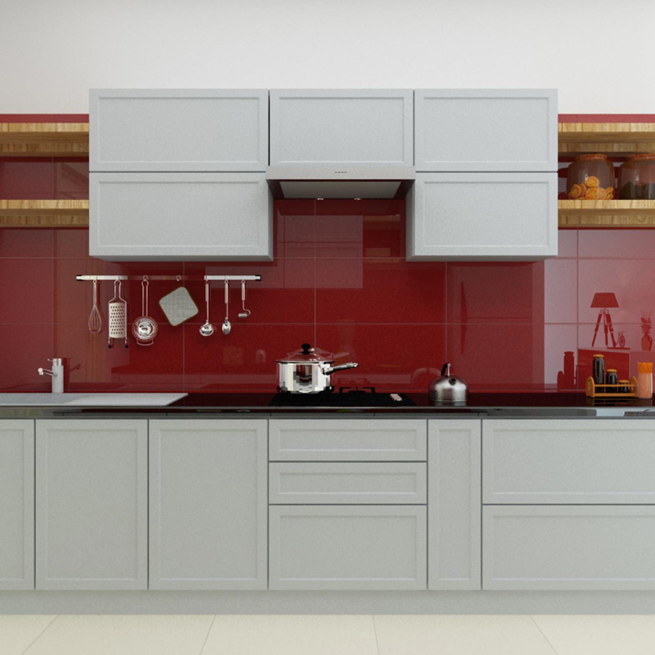Vibrant Kitchen Colour for Modular Kitchen