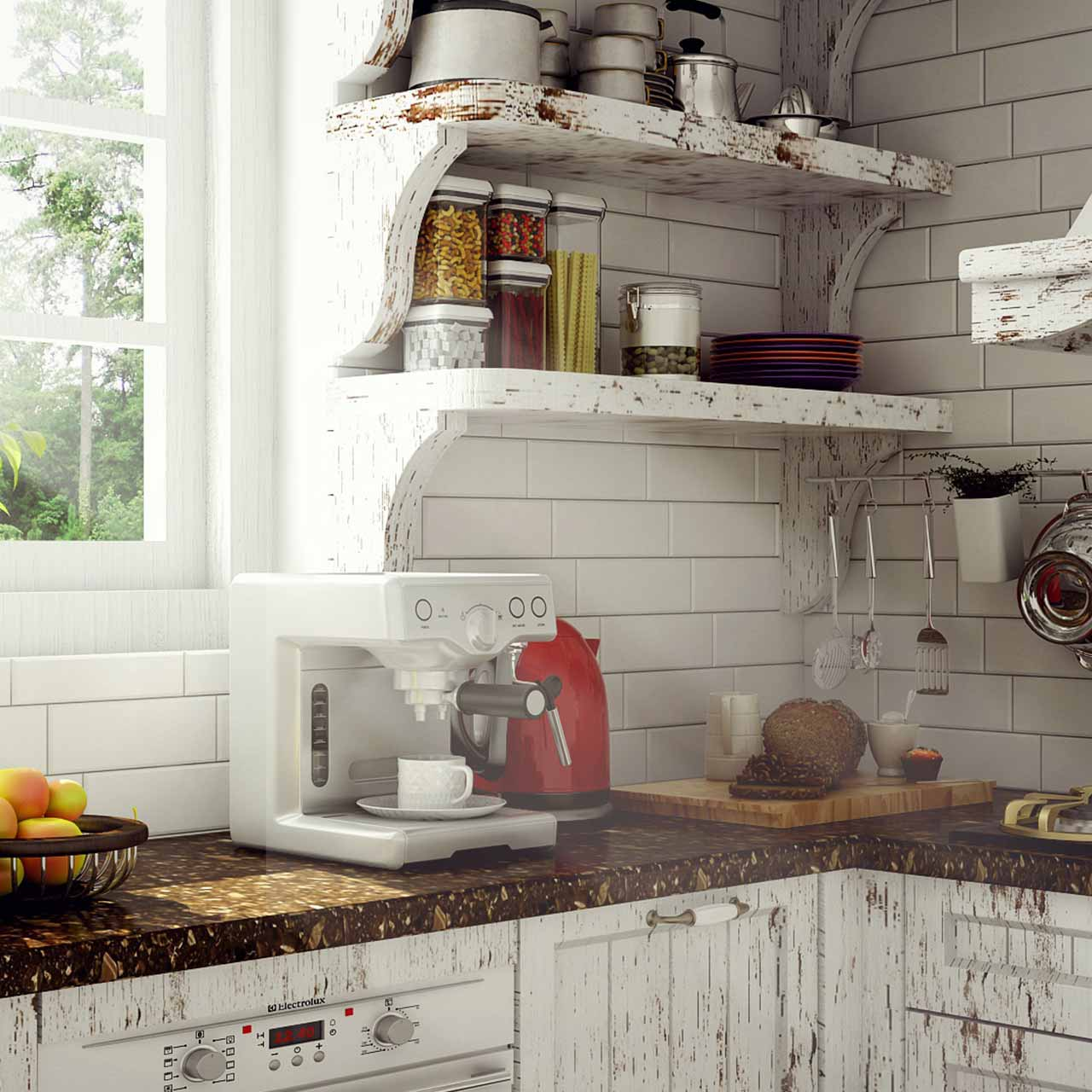 Kitchen Shelves - Design Ideas For Kitchen