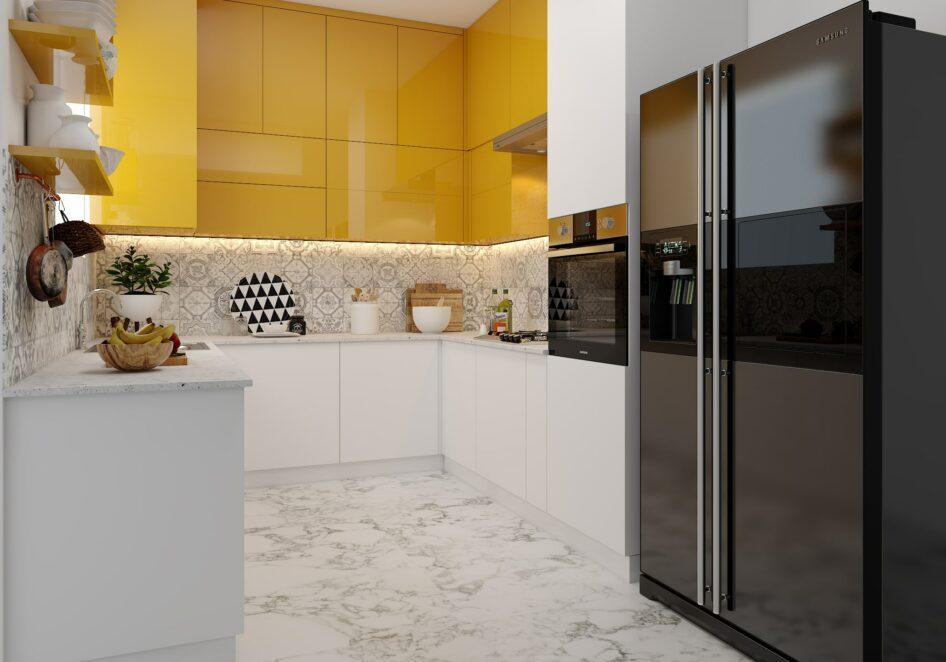Modern classic 3 bhk flat of debashish modular kitchen design in bannerghatta bengaluru designed by design cafe