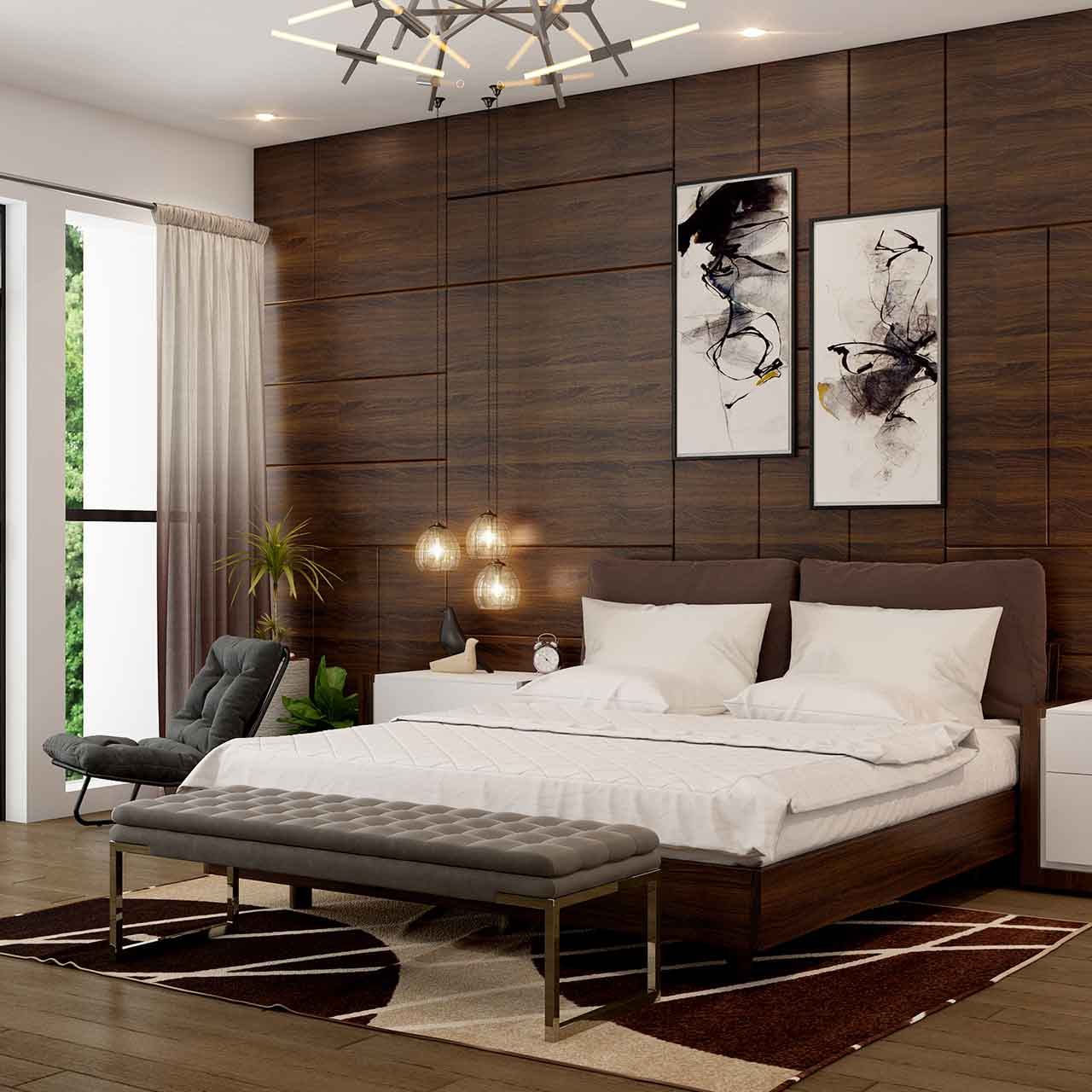 Traditional style bedroom interior designs are filled with positive vibes, pleasing atmosphere and clutter-free