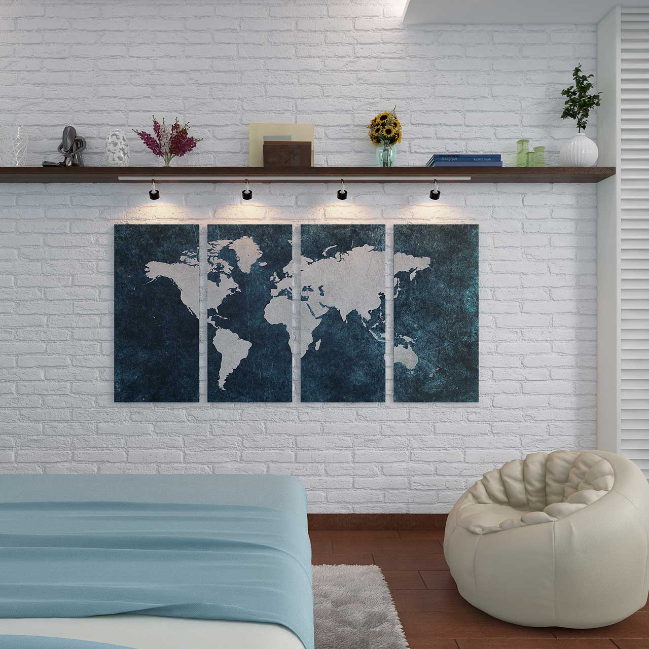Bedroom design check-list: map 3D wall painting design brings in fresh energy to a modern bedroom desig