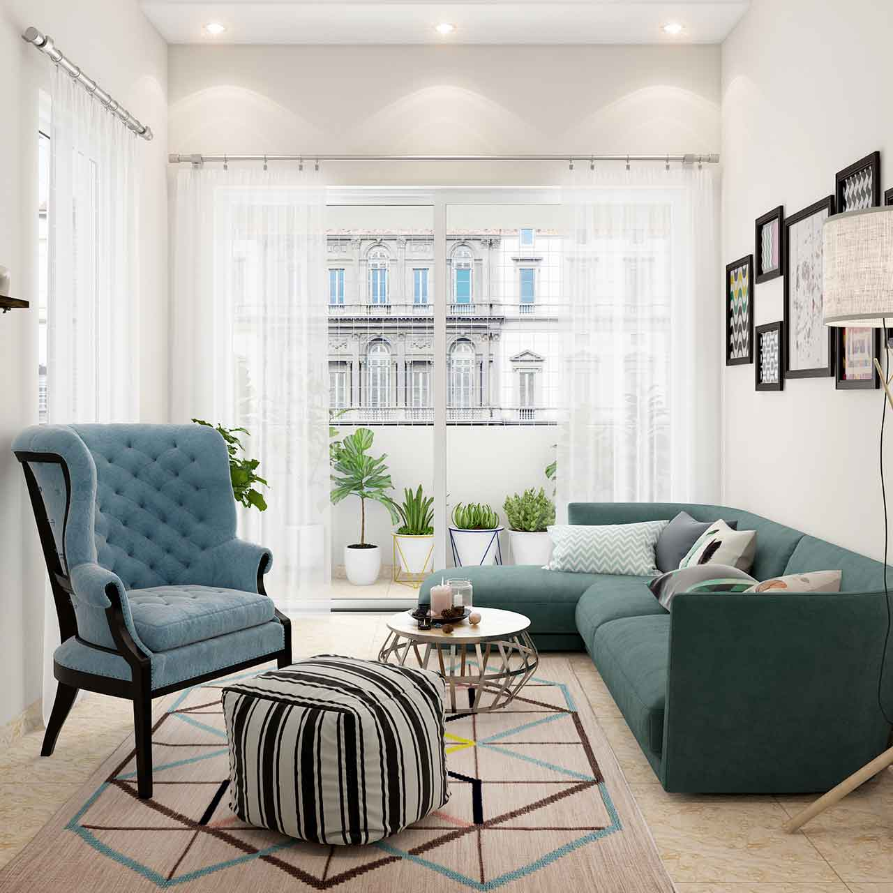 Scandinavian style is a hot favourite of most designers for living room interior design
