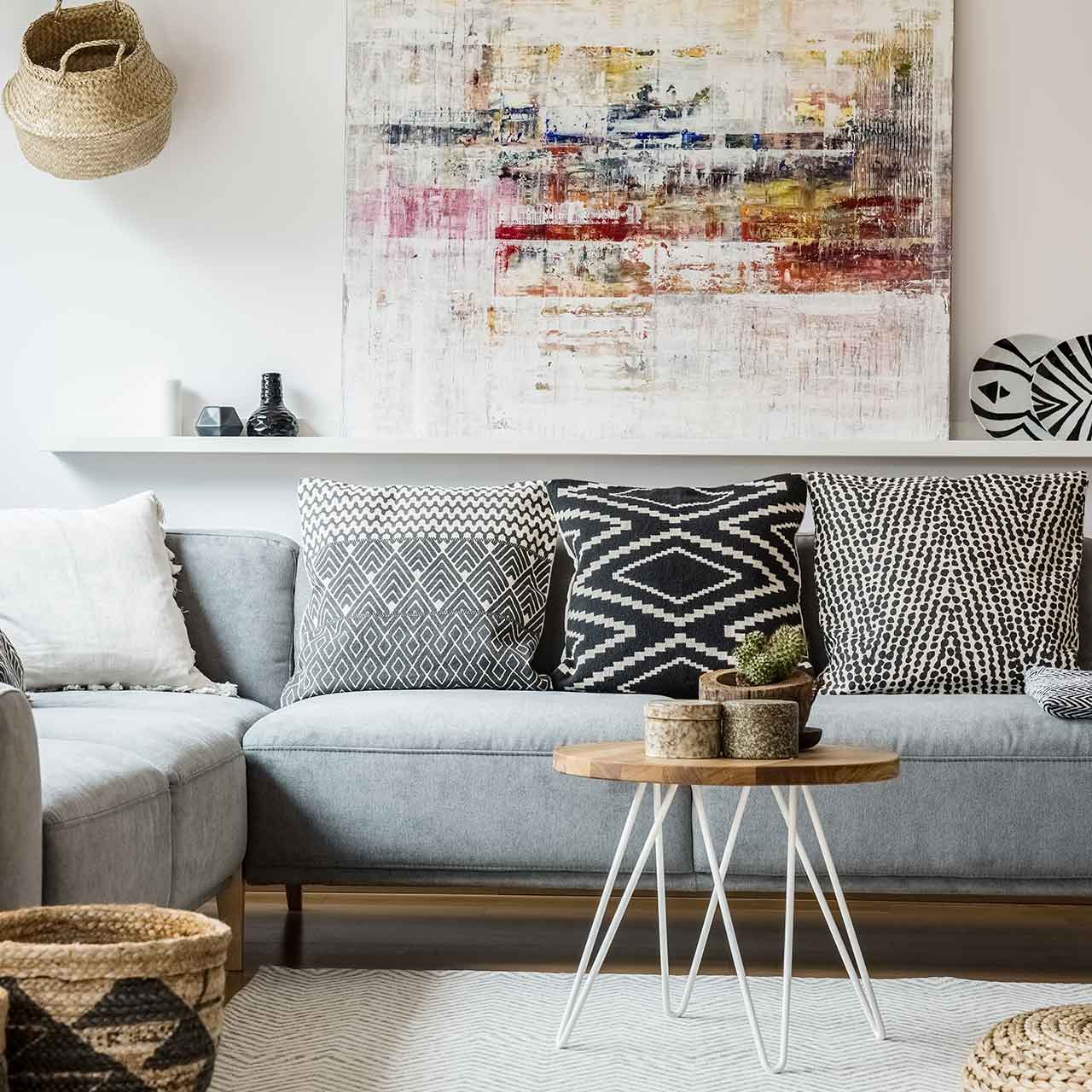 Rustic style living room interiors are romantic with vintage charm