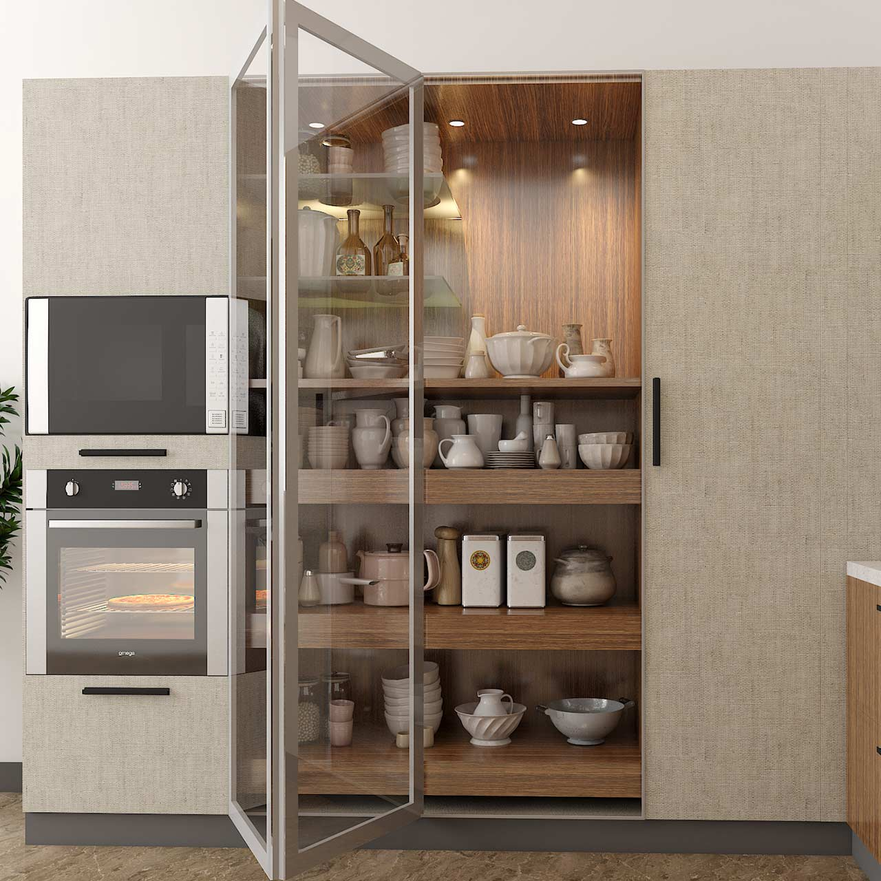 Kitchen Cupboards to enhance storage in kitchen space saving ideas