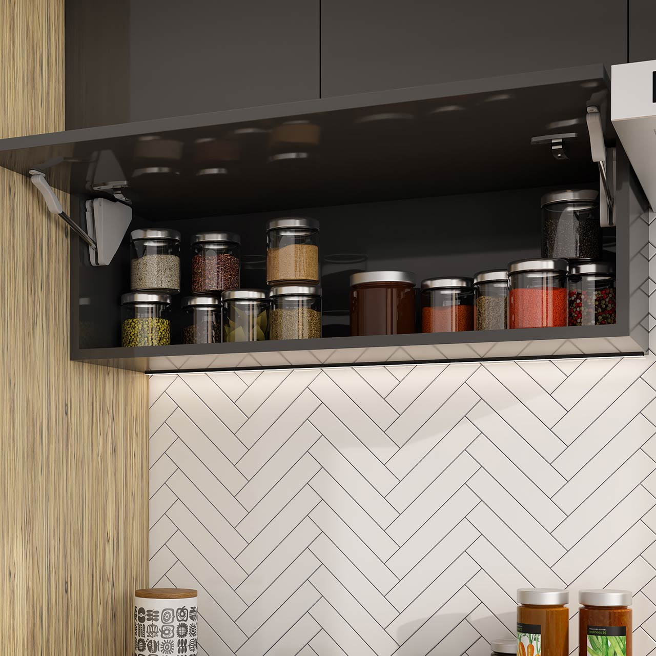 Kitchen Lifts to enhance storage space in your Modular Kitchen.