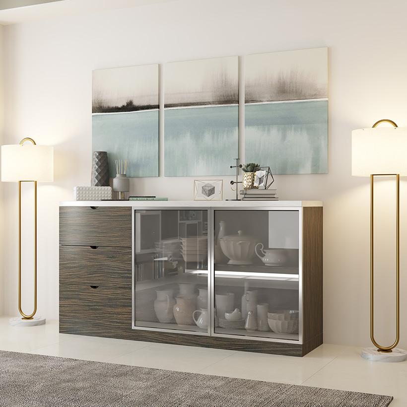 Latest Crockery Unit Designs For Dining Room | Design Cafe