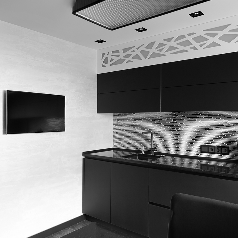 White kitchen cabinets and black kitchen cabinets are always the right choices for kitchen cabinet colors