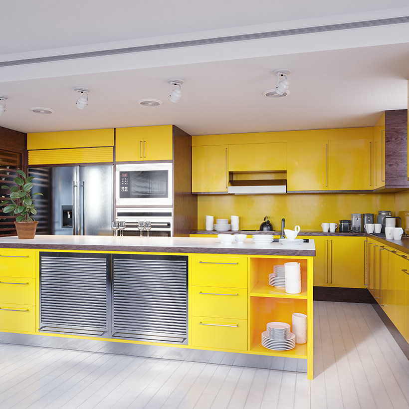 Best kitchen cabinet color idea go with bold and modern with sleek cabinets or pick muted yellow