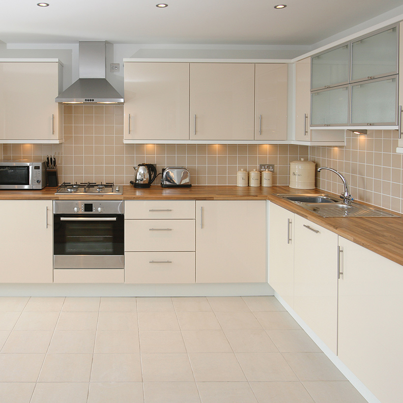 Best color for kitchen cabinets is beige and white is a sophisticated and luxurious scheme