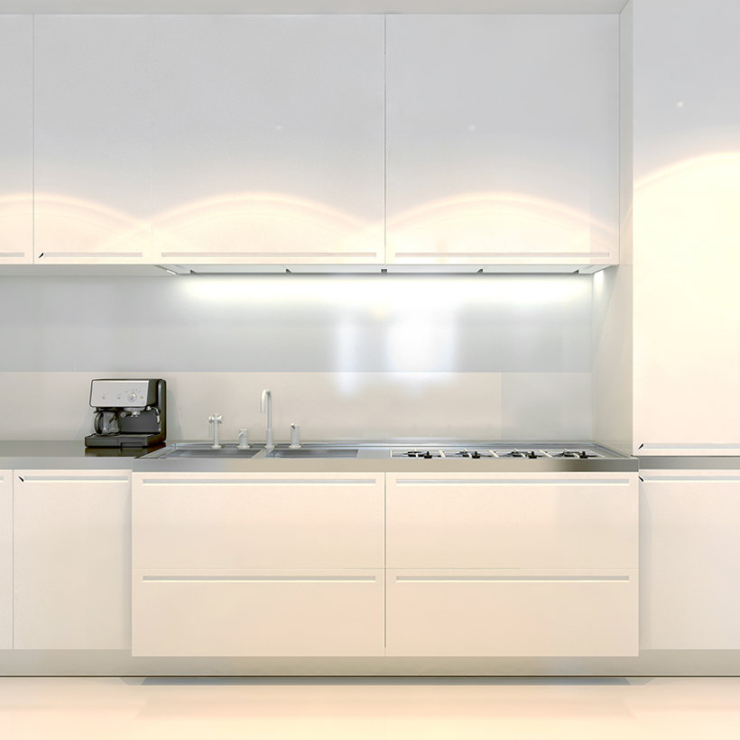 Classic white kitchen cabinets gives a sense of openness and cleanliness