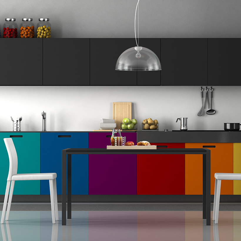 10 trendy colour schemes for kitchen cabinets